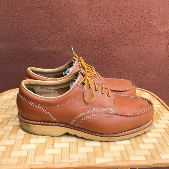 Vintage Sears Leather Moc Toe Oxfords